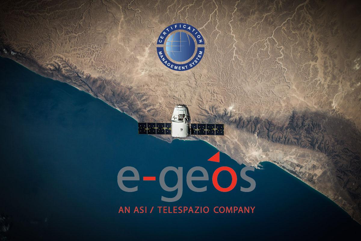CERTIFICATION ha certificato E-GEOS